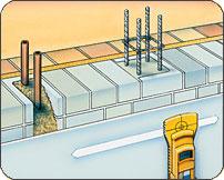 コンクリート探知機(鉄筋探査機)使用例2