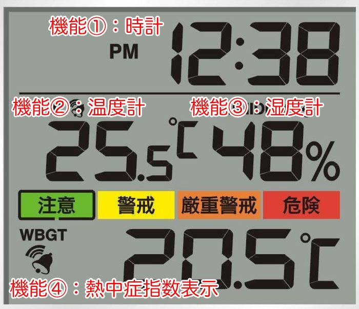 熱中症温度計 画面表示