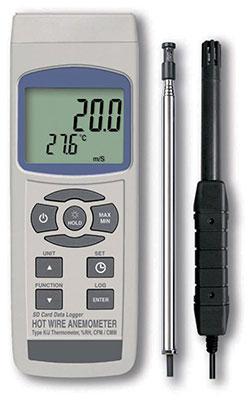 SD保存デジタル熱線式風速・風量計