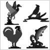 鳥・魚シリーズ:ブラック