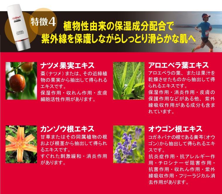 植物性由来の保湿成分配合