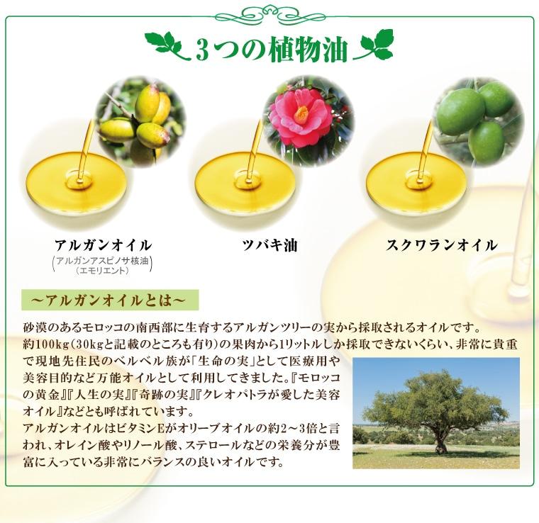 3つの植物油