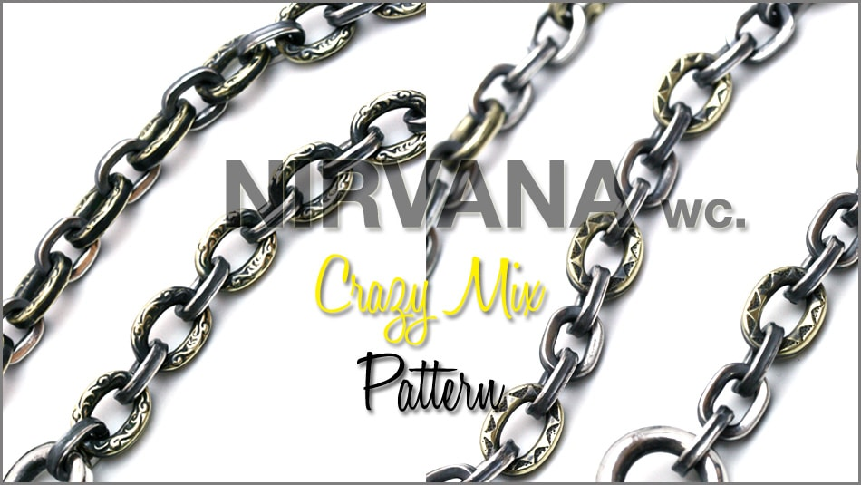 NIRVANA CRAZY MIX PATTERN WALLETCHAIN