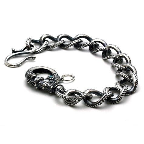 Gleed Skull Walletchain Silver / ターコイズ