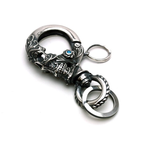 Gleed Skull Key Holder Silver / ターコイズ