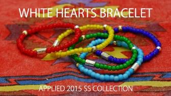 WHITE HEARTS BRACELET
