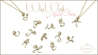 WireWork AlphabetCharms