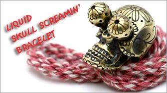SKULL SCREAMIN BRACELET