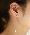 Milky Zirconia Pierce