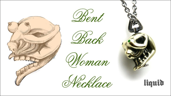 Bent Back Woman Necklace
