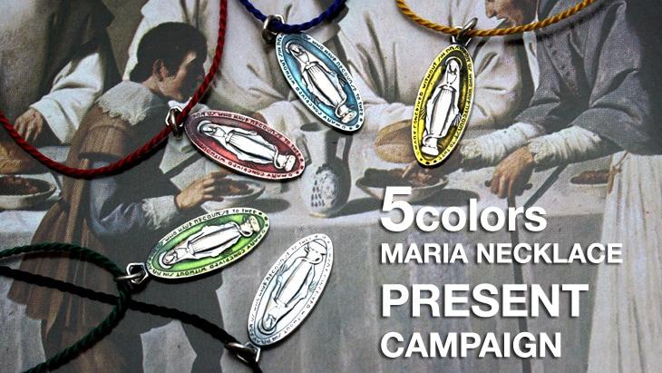 5colors Maria Necklace  PRESENT CAMPAIGN!