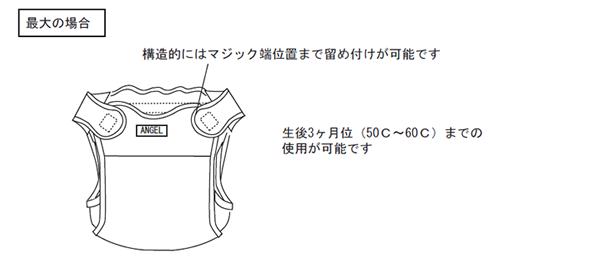 エンゼル新生児カバーの使用方法(最大の場合)