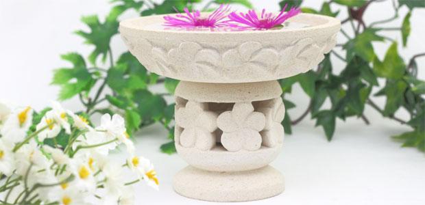 南国リゾートの素敵な水鉢キャンドルホルダー