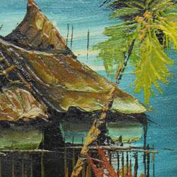 油絵の拡大画像