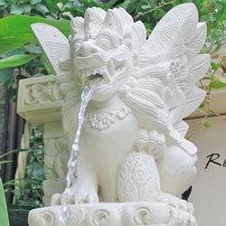 噴水石像の写真