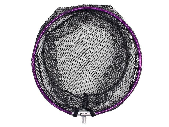 サイコPVCラウンドフレームAFD102アルミ枠30cm PVCネット付クロスファクター釣り具