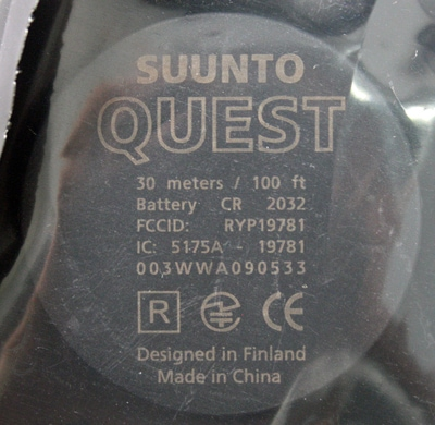 SUUNTO Quest (クエスト)用バッテリーキット SS019215000