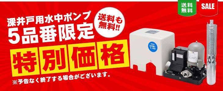 【送料無料】 深井戸用水中ポンプを5品番限定で特別価格!