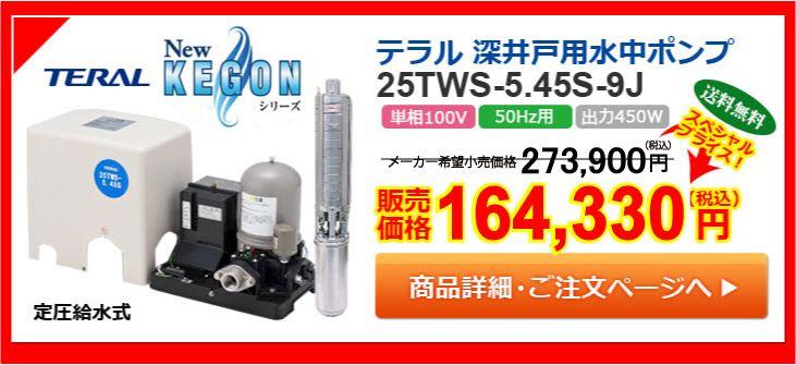テラル 深井戸用水中ポンプ 25TWS-5.45S-9J