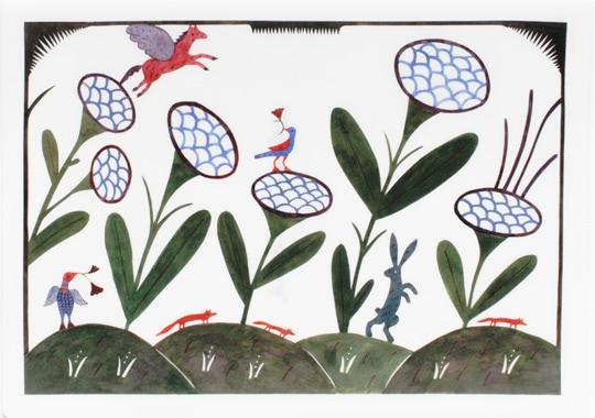 クリアファイル「花の中で Among Frowers」
