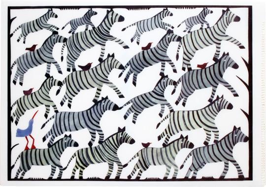 クリアファイル「ゼブラ Zebra」