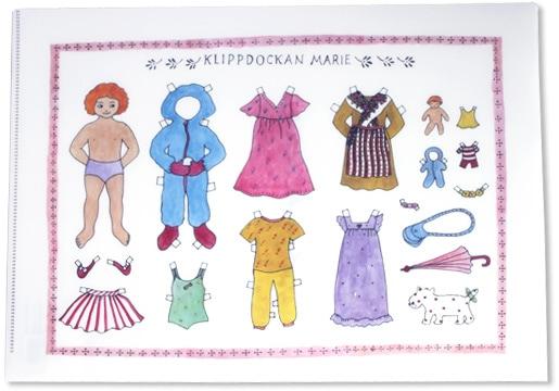 クリアファイル「着せ替え人形 klippdockan marie」