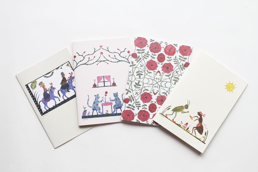 スウェーデンの切り絵作家、アグネータ・フロックのオリジナルノート