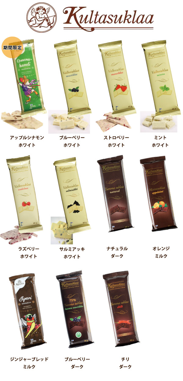 クルタスクラー(Kultasuklaa) ホームメイド感あふれるチョコレート