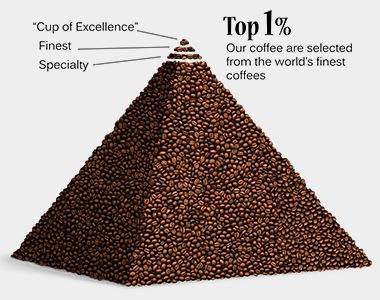 流通TOP1%の品質を誇る希少価値の高いハイクオリティーなコーヒー豆。