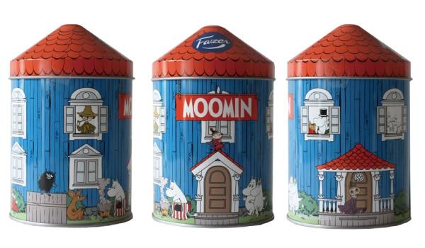 ファッツェル(Fazer)ムーミンハウス缶 チョコレートセット