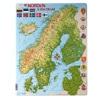 北欧雑貨 北欧の地図のジグソーパズル