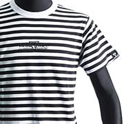 ATワンポイントセンターロゴボーダーTシャツ