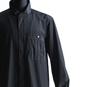 ATプリーツポケットシャツ