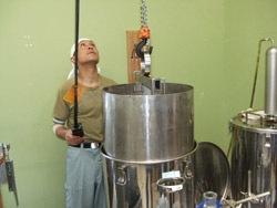 蒸留器にセット