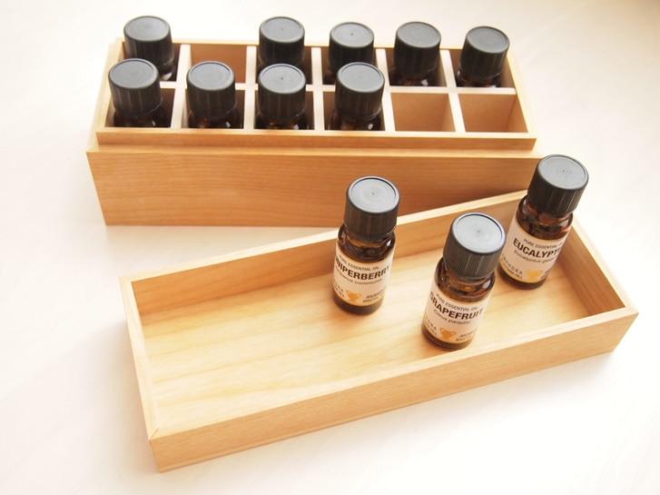 アロマオイルセット 木製ボックス