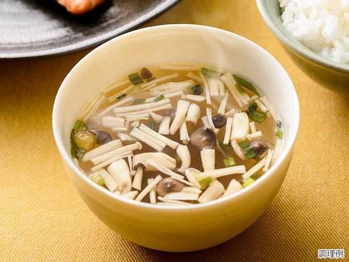 信州しめじの和風スープ