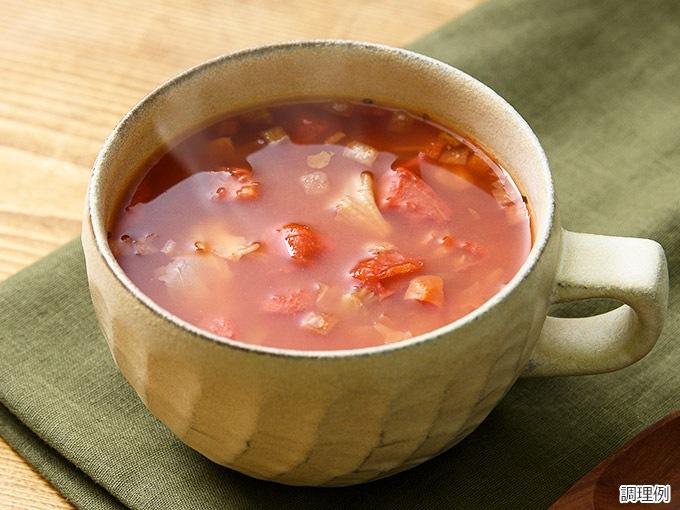 ザク切りキャベツとトマトのスープ