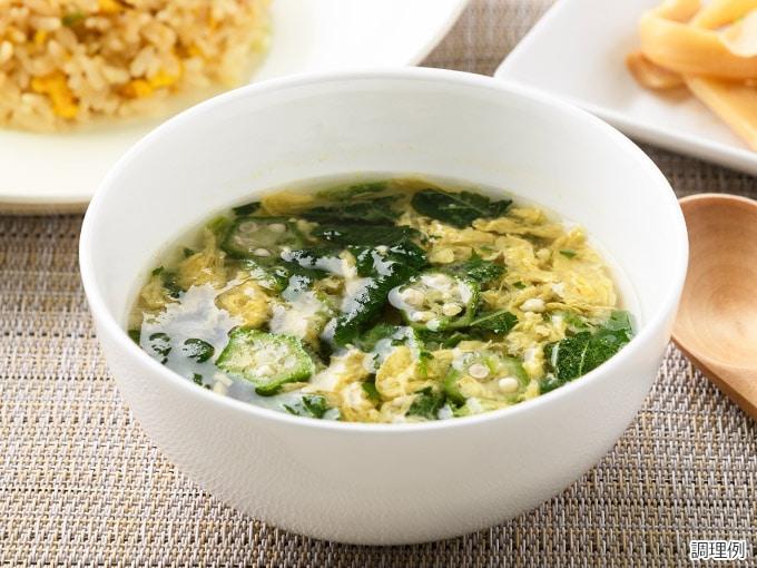 ねばねば野菜の中華スープ