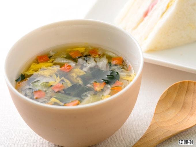 野菜とたまごの具だくさんスープ