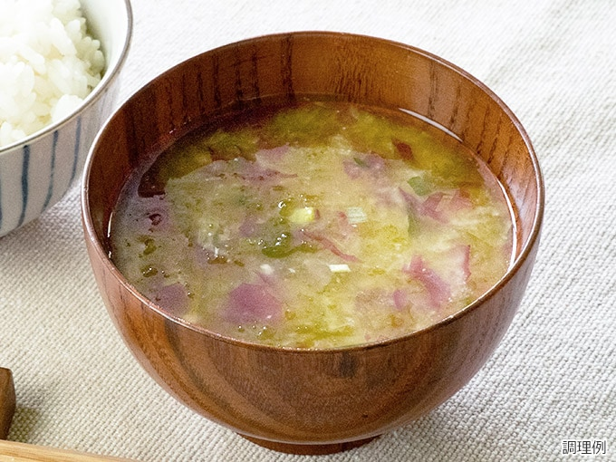 海藻のお味噌汁