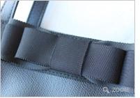 黒革の縦型トート トリプルグログランリボン【エレガントタイプ】