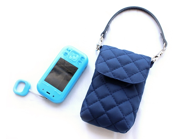 携帯電話ケース☆無地【紺】KOY-KC04
