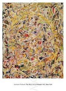 『かすかに光っている物質 1946年』 Jackson Pollock アートポスター
