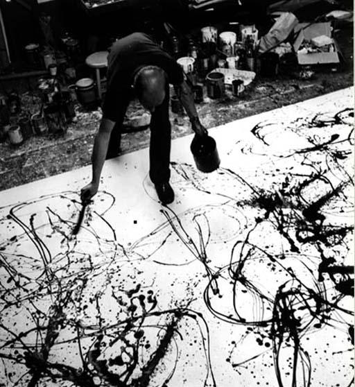ジャクソン・ポロック(Jackson Pollock)ポアリング・ドリッピング