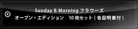 Sunday B Morning フラワーズ オープン・エディション  10枚セット(各証明書付)