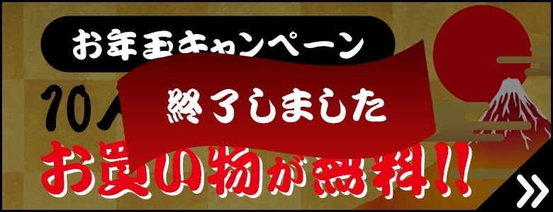 お年玉キャンペーン/10人に1人お買い物が無料!!