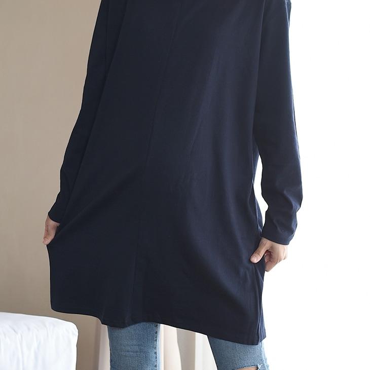 授乳シンプルワンピース[マタニティ服/授乳服]17c08