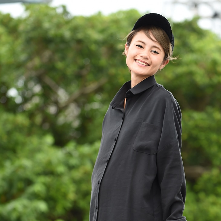 くるみボタンシャツワンピース[マタニティ服]17c22