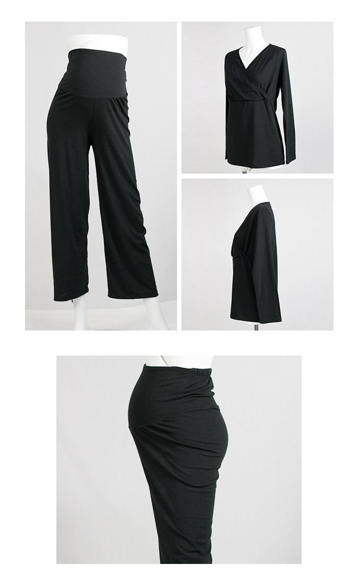 授乳パジャマセット[マタニティ服/授乳服]17c24