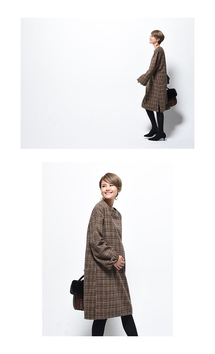 グレンチェックワンピース[マタニティ服]17c26